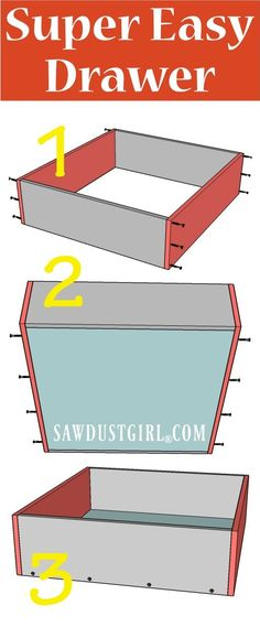 Build a super easy drawer for cabinets and furniture