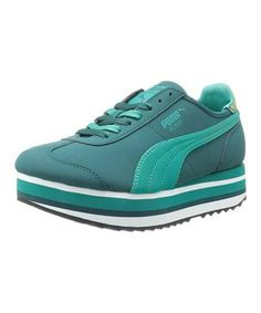 Take a look at this Deep Teal Roma Slim Stacked Camo Sneaker - Women by PUMA  on today!