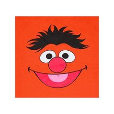 Sesame Street Ernie Face Youth T-Shirt   Sesame Street Ernie Face Youth T-Shirt Ernie! Who can resist these cute Sesame Street character face kids t-shirts? This shirt is all face...Ernie's that is. Dress the whole family, with our Sesame Street charcter shirts for your next birthday party. This orange, standard fit youth t-shirt is made of 100% cotton. Be sure to check out our Size Chart to get an idea of the average size and dimensions of this Erine Face tshirt style. Check back of..