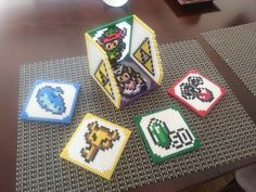 Zelda Link to the Past Coaster Set w/ Holder by Michahay.deviantart.com on @deviantART