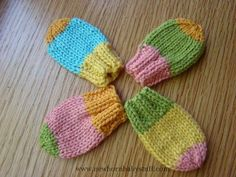 Baby Knitting Patterns Knit Baby Mitts :)  (simple, cute, and quick!  5g per mitt a...