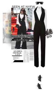 """fashion logic: model chic is never off-duty."" by ashtagery ❤ liked on Polyvore featuring Tonya Hawkes, Altuzarra, Cushnie Et Ochs, Miu Miu, Ugo Cacciatori, Yves Saint Laurent, NYFW, jumpsuits, polyvorecommunity and nyfwstreetstyle"