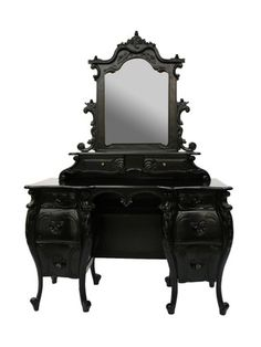 this is pretty much the vanity table i've wanted my entire life.