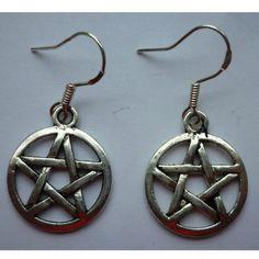 Pentagram Earrings for sale at Trendy Goodies http://www.trendygoodies.nl/pentagram-oorbellen