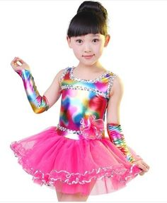 e1596b6cc Modern color dancewear salsa dance dresses for girls fashion dance costume  for kids girls dance stage costumes for singers