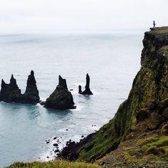 Reynisdrangar sea stacks of Reynisfjara Beach, Iceland.
