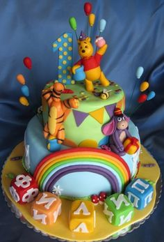 Winnie the Pooh party  By kate888 on CakeCentral.com