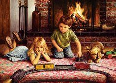 Firelight Express Domestic Scene Jigsaw Puzzle