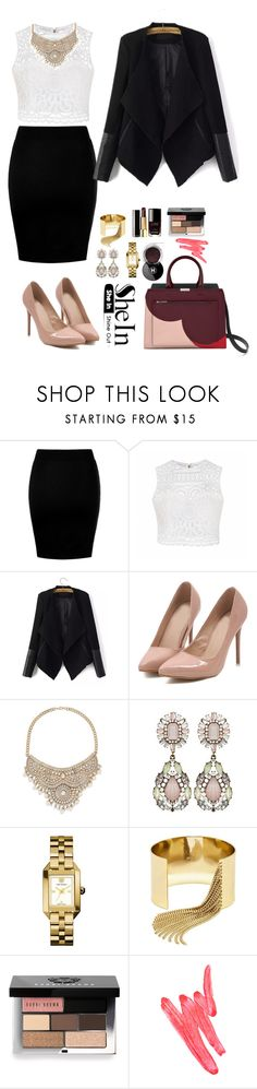 """""""Shein 7."""" by amra-f ❤ liked on Polyvore featuring Ally Fashion, Bebe, Tory Burch, BaubleBar, Chanel, Bobbi Brown Cosmetics and Ilia"""