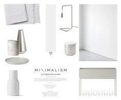 """""""The Minimalist"""" by nmkratz ❤ liked on Polyvore featuring interior, interiors, interior design, home, home decor, interior decorating, ferm LIVING, H&M and Tom Dixon"""