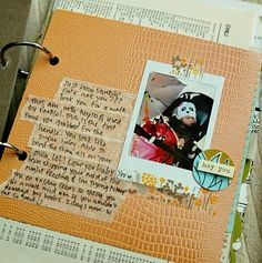 use of tape (washi?) to journal on--love