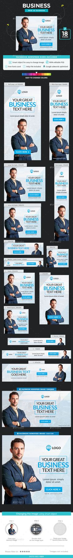 Business Web Banners Template PSD. Download here: http://graphicriver.net/item/business-banners/15865992?ref=ksioks
