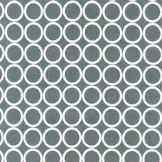 Robert Kaufman House Designer - Metro Living - Ring Toss in Pewter Modern Fabric, Grey Fabric, Cotton Fabric, Retro Fabric, Pillow Fabric, Grey Throw Pillows, Ring Toss, Pewter Grey, Robert Kaufman