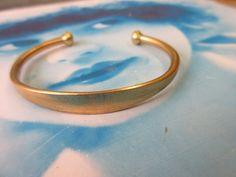 Raw Brass Bangle Bracelet with Tapered ID Blank 934RAW x1 by dimestoreemporium on Etsy