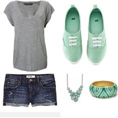 Really cute summer outfit. Love the necklace, but - Really cute summer outfit. Love the necklace, but not with this outfit, for me.  Repinly Women's Fashion Popular Pins