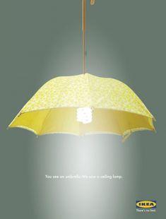 Repurposed Umbrella...Cute lighting idea.