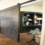 Sliding barn doors are usually preferred by many farmers because they make it easy for one to access the barn regardless of the weather. Mirror Closet Doors, Room Divider Doors, Barn Door Closet, Barn Door Track, Diy Barn Door, Barn Door Hardware, Folding Patio Doors, Barn Style Doors, Interior Barn Doors
