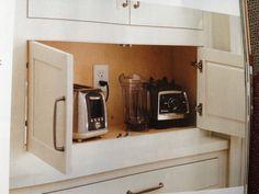 appliance garage | Appliance garage | Kitchen Reno | Pinterest