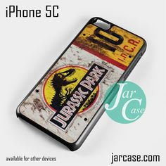 jurassic park ticket Phone case for iPhone 5C and other iPhone devices