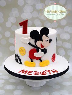 Inspired Picture of Mickey Birthday Cake - caketopper/cakedecoration/themecakes - kuchen kindergeburtstag Mickey Mouse Torte, Mickey Cakes, Minnie Mouse Cake, Mickey Birthday Cakes, Mickey Mouse Clubhouse Birthday Party, First Birthday Cakes, 1 Year Old Birthday Cake, Mickey Mouse Birthday Decorations, Birthday Kids