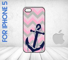 cute cheveron and anchor iphone case