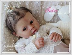 PROTOTYPE beautiful baby doll ~INKA~ rebornDELUXE girl by Ina Volprich (Puppe)  | eBay Reborn Babypuppen, Reborn Baby Dolls, Wiedergeborene Babys, Inka, Silicone Baby Dolls, Doll Face, Beautiful Babies, Faces, Kitty