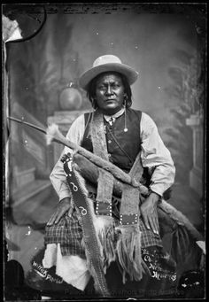 "pogphotoarchives:  """"San Juan, Mescalero Apache Chief""  Photographer: R.W. Russell or Ben Wittick  Date: June 14, 1882  Negative Number 015893  """