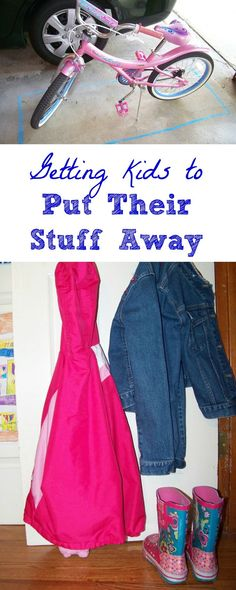 Quick ideas that make it easy for the kids to help clean up around the house!