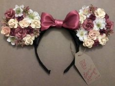 DIY: Blue and silver floral Minnie mouse ears - Google Search