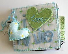 Cute mini-book! Great crafty blog!