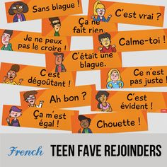 Set of 12 Classroom Phrases French Signs