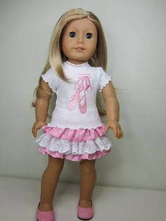 American girl doll clothes  Pretty in pink ballet by JazzyDollDuds, $24.00