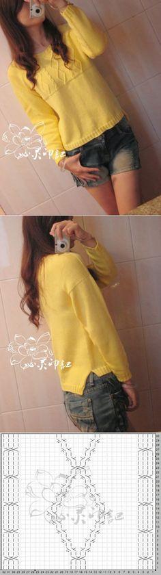 желтый пуловер.