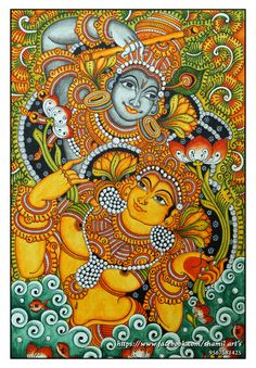 1000 images about kerala mural art on pinterest kerala for Asha mural painting guruvayur