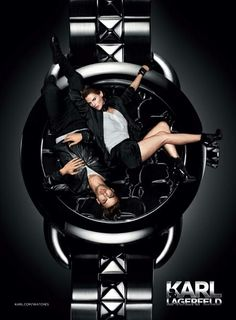 Karl Lagerfeld Watch Campaign - He always knows how to rock it with style!