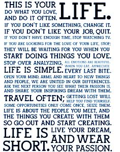 Hanging on my wall to inspire everyone who enters!