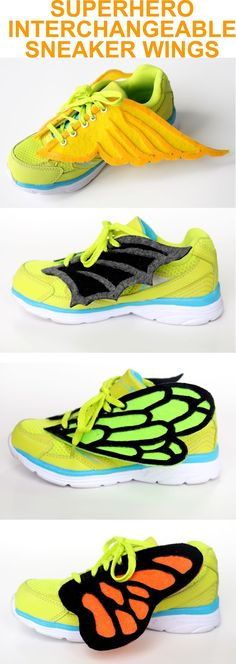 Grosgrain: Superhero Sneaker Wings Template with Tutorial....and Other Wings!