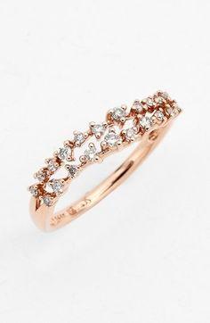 Jewelry.Wavy Diamond Ring