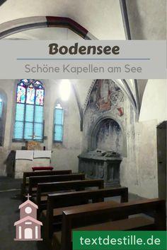 Im Artikel zeige ich euch fünf schöne Kapellen rund um den Bodensee. #textdestille Kirchen, Blog, Birthing Center, Flat Illustration, Hostel, Blogging