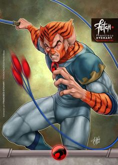 New illustrations for a cards game that I did for Universo Retro about Thundercats. Rights reserved to Rankin/Bass. Tygra Art done  by Franciscoetchart.deviantart
