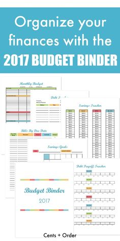 It's easy to get your finances organized with this FREE printable budget binder! Find out how to set up your binder with the included budget worksheets, bill payment checklist, savings trackers, debt tracking sheets, and more! Includes pages of financ Budget Binder, Budget Planner, 2017 Budget, Monthly Budget, Budget Tracking, Budget Help, Planner Diy, Monthly Expenses, Planner Supplies