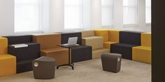 Allsteel Rise seating, Scooch seat, Belong table, Gather collaborative collection, office furniture