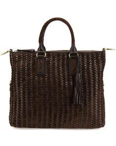 $229 Sondra Roberts Leather & Suede Satchel, originally 437!