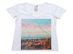 - Damska koszulka Go2Hel  - Kolorowa grafika z przodu  - Logo firmy z tyłu  - Wykonana z bawełny  - Kolor: biały