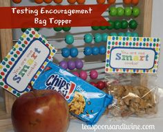 free testing encouragment bag toppers