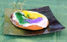 Mardi Gras Serving Platter: Perfect for your King Cake or party treats!