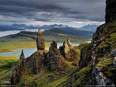 Rock formations in the Scottish highlands