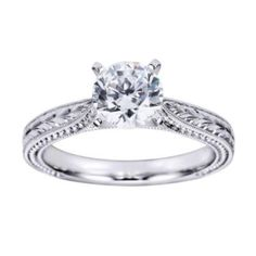 Victorian Solitaire Engagement Ring By Polenza @ Kranich's Jewelers.