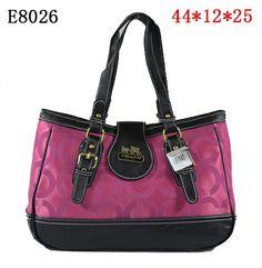 New Coach Madison Op Art Shoulder Handbag Pink