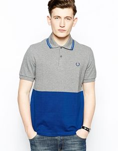 Fred Perry Laurel Wreath Polo Shirt with Block Colour